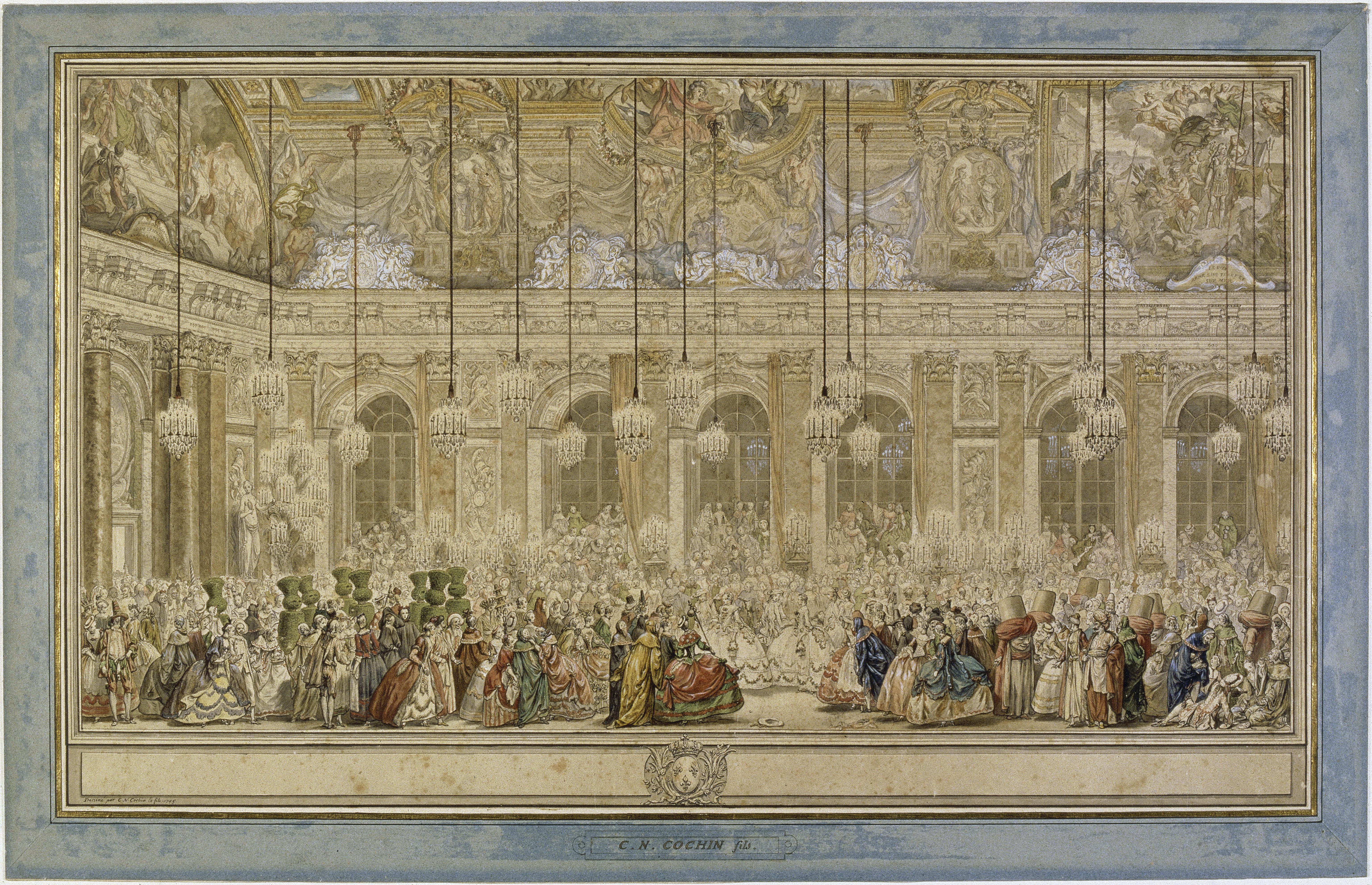 Charles Nicolas Cochin le Jeune Vers 1745 Encre brune,rehauts de blanc, aquarelle avec lavis gris, plume © RMN-Grand Palais (musée du Louvre) / Michèle Bellot
