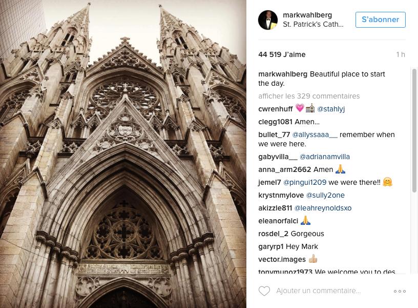 © Compte Instagram officiel de Mark Wahlberg