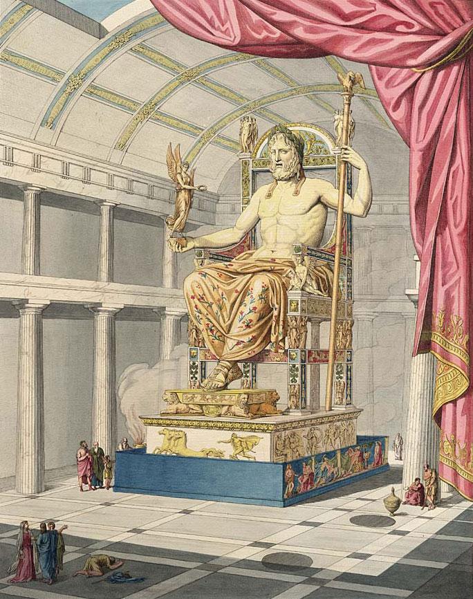 Gravure tirée de Le Jupiter olympien ou l'art de la sculpture antique par Quatremère de Quincy (1815) © Wikipedia