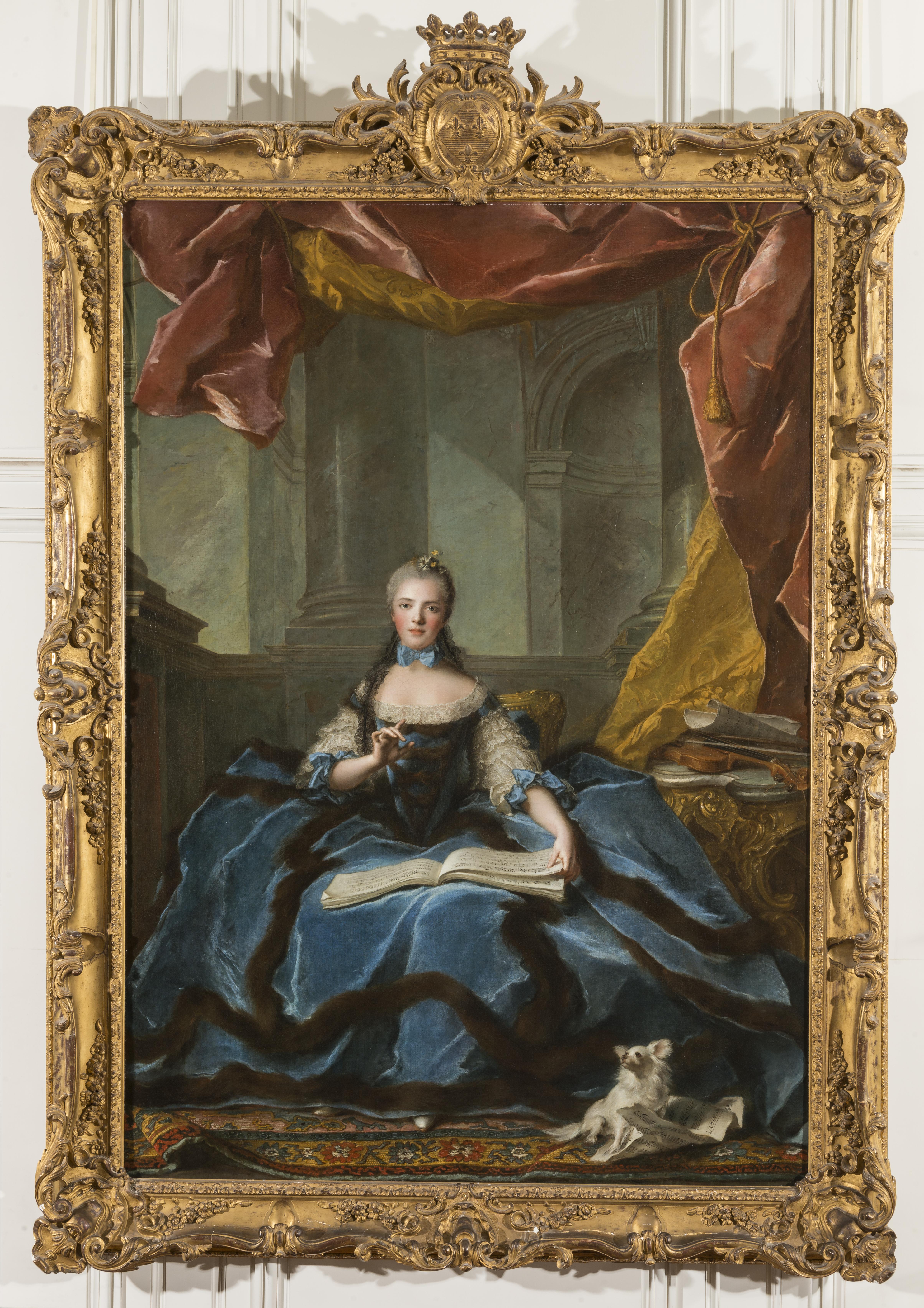 Madame Adelaïde de France (1732-1800), fille de Louis XV Nattier Jean-Marc (1685-1766)Versailles, Huile sur toile, 1758 © RMN-Grand Palais (Château de Versailles) / Christophe Fouin