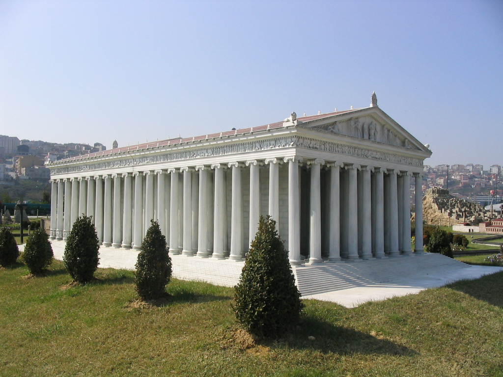 Reconstitution du temple à Miniatürk Park, Istanbul © Wikipedia