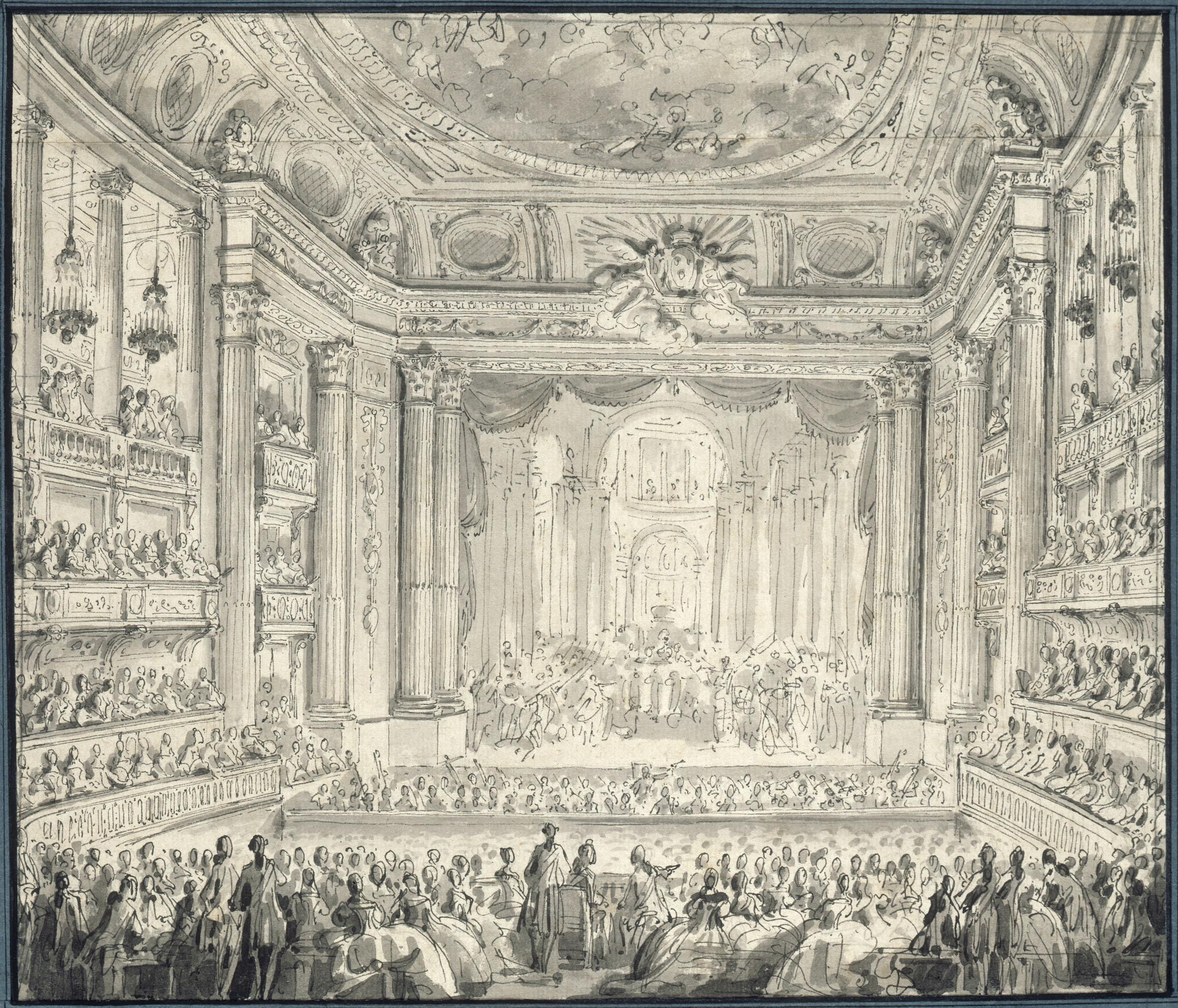 Jean-Michel Moreau dit « le Jeune » (1741-1814) Dessin, plume et encre de Chine Mai 1770 Château de Versailles © Château de Versailles, Dist. RMN-Grand Palais / Jean-Marc Manaï