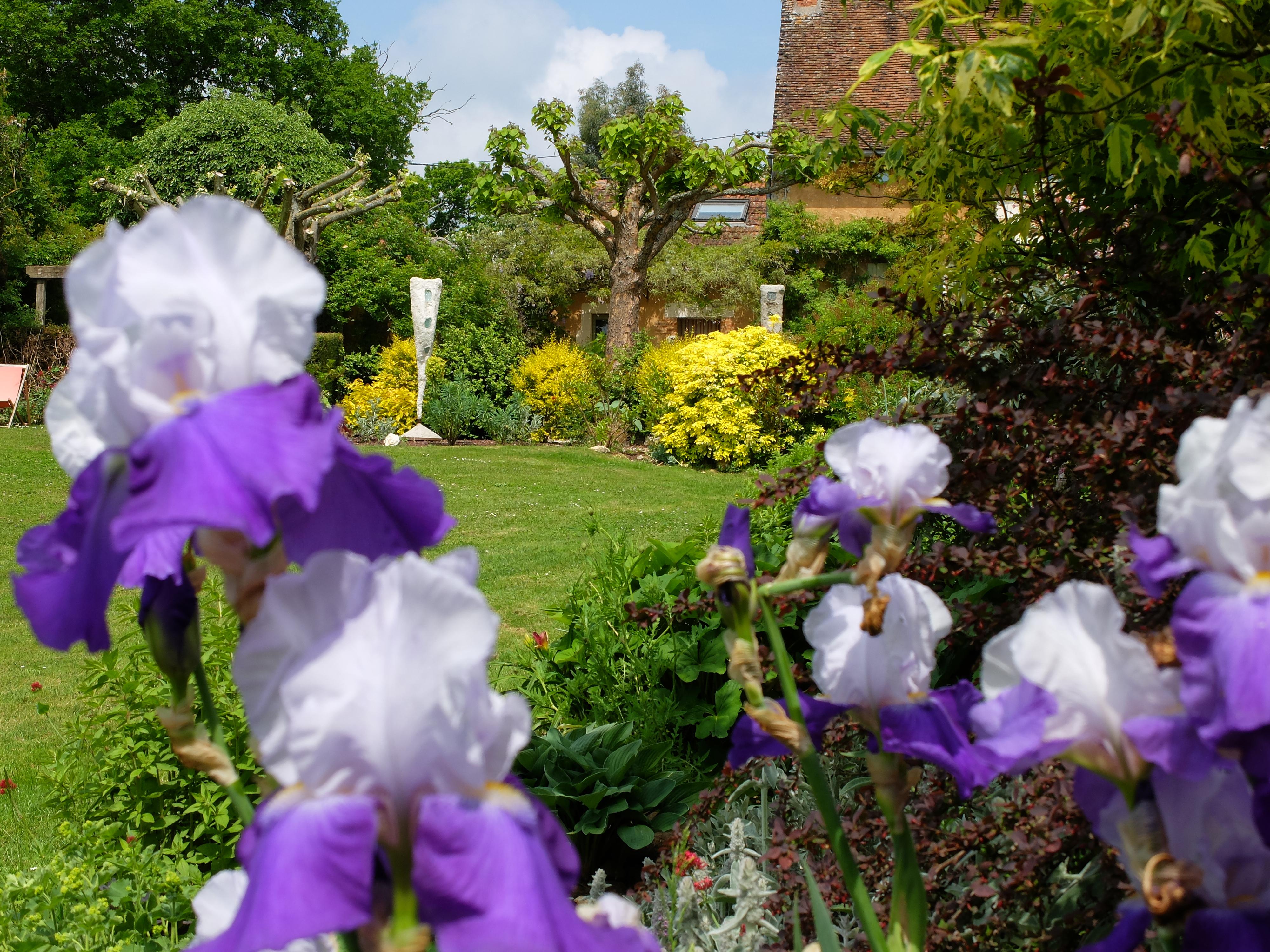 Un jardin d'iris privé aux alentours de Sancerre