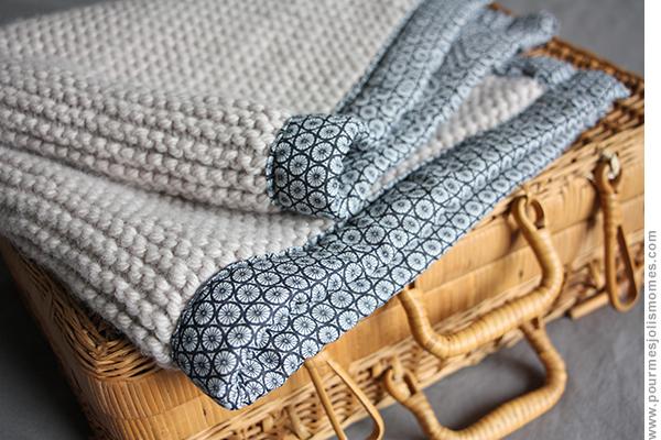 La couverture en laine et tissu