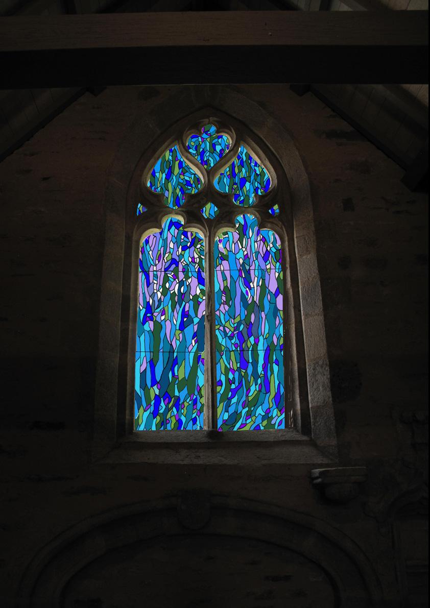 Les nouveaux vitraux de La Chapelle Saint-Philibert en Finistère