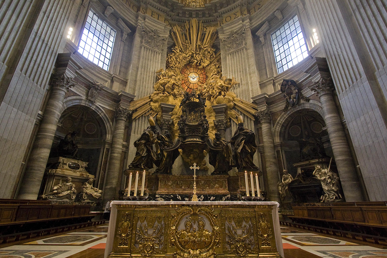 La chaire de Saint-Pierre au Vatican © Fr Lawrence Lew, O.P.