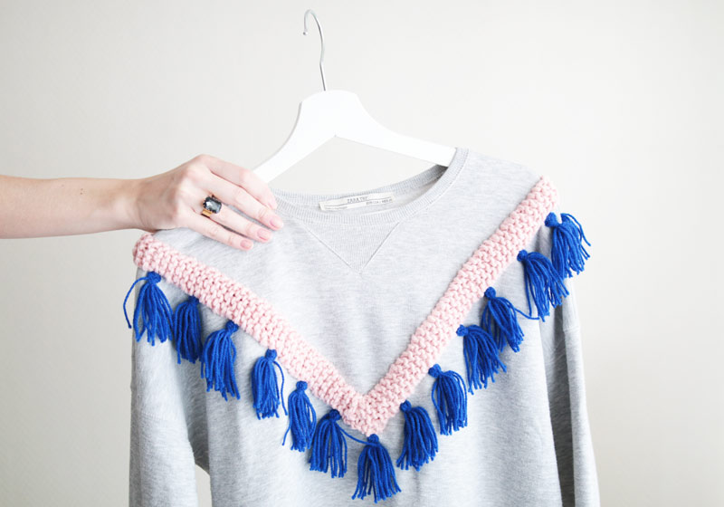 Le sweat à franges
