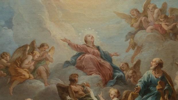 François Lemoine, La Vierge en gloire (pour la voûte de Chapelle de la Vierge), 1732. Huile sur toile (esquisse). Église de Saint-Sulpice, COARC, Paris.