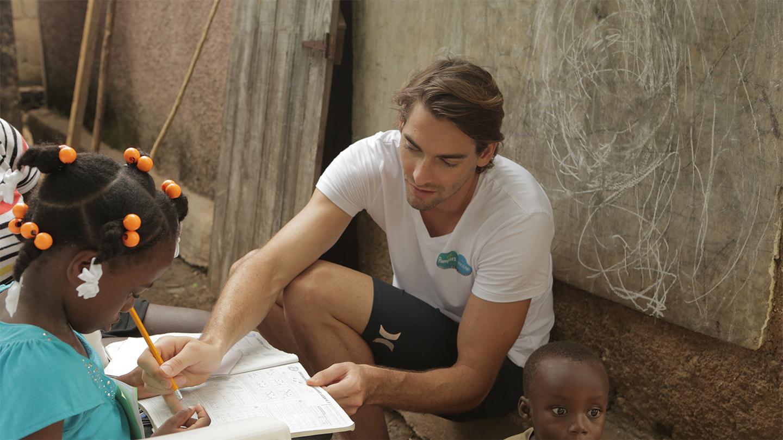 Camille Lacourt à Haïti