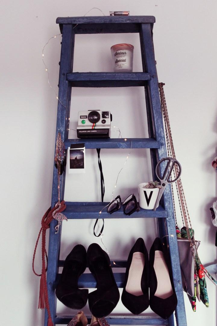 Transformer une échelle ancienne en étagère