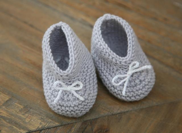 Les chaussons tricotés