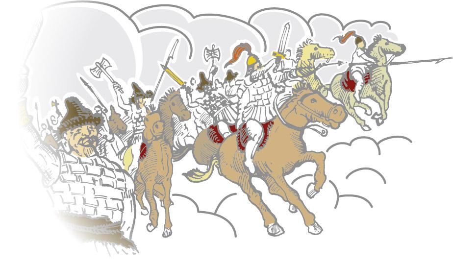Sainte Geneviève a mené de nombreux combat contre les invasions barbares ©Fabrice Ferradou