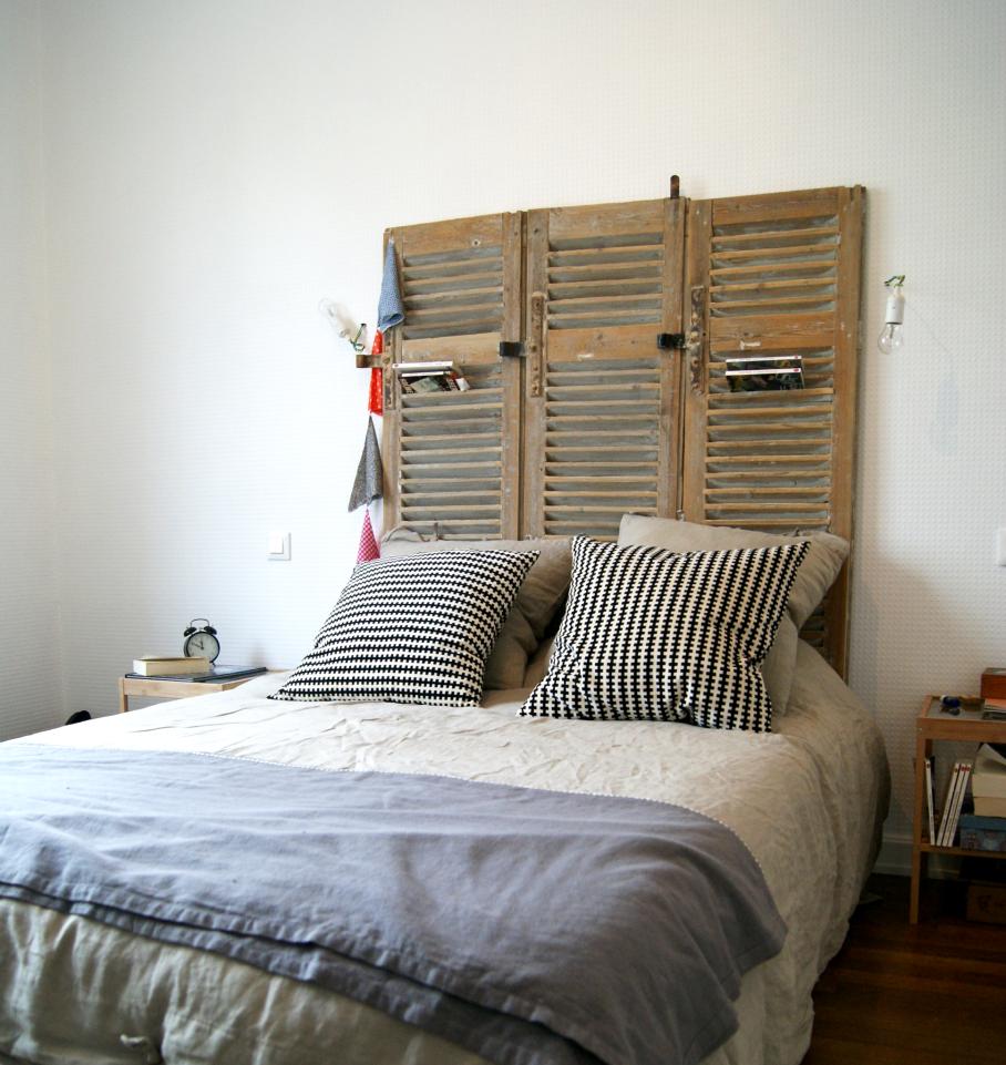 Transformer des volets en tête de lit