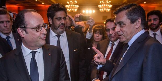 François Hollande et François Fillon
