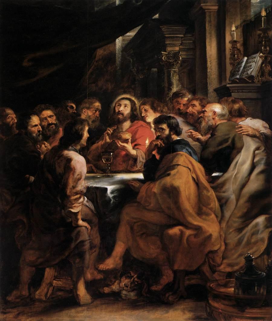 Pierre Paul Rubens, La Cène, vers 1632, huile sur toile, Milan, Pinacothèque de Brera © Web Gallery of Art