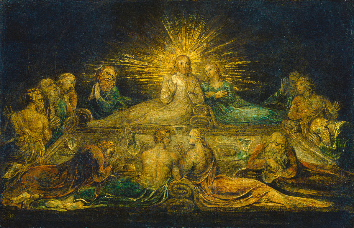 William Blake, La Cène, 1799, tempera sur toile, Washington, National Gallery of Art © National Gallery of Art of Washington