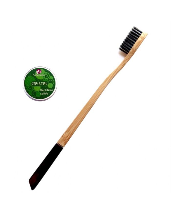 Brosse à dent biodégradable Pachamamaï et son dentifrice solide