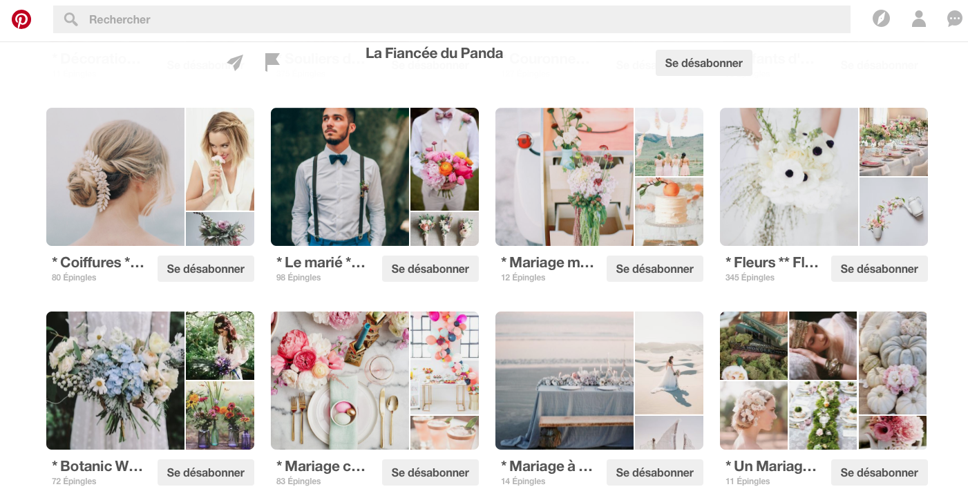 pinterest boards mariage
