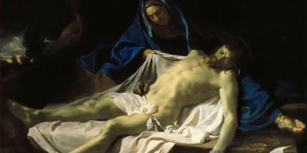 La Pieta de Charles Le Brun, entre 1643 et 1645, huile sur toile, Musée du Louvre © Wikimedia