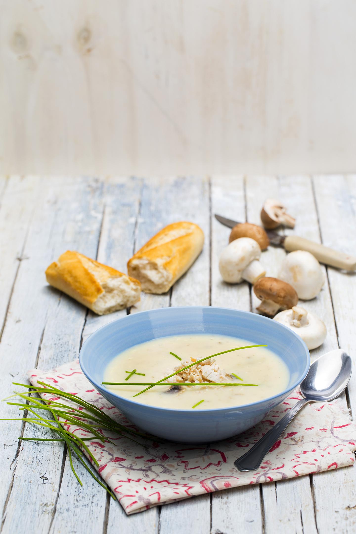 Crème de poulet aux champignons