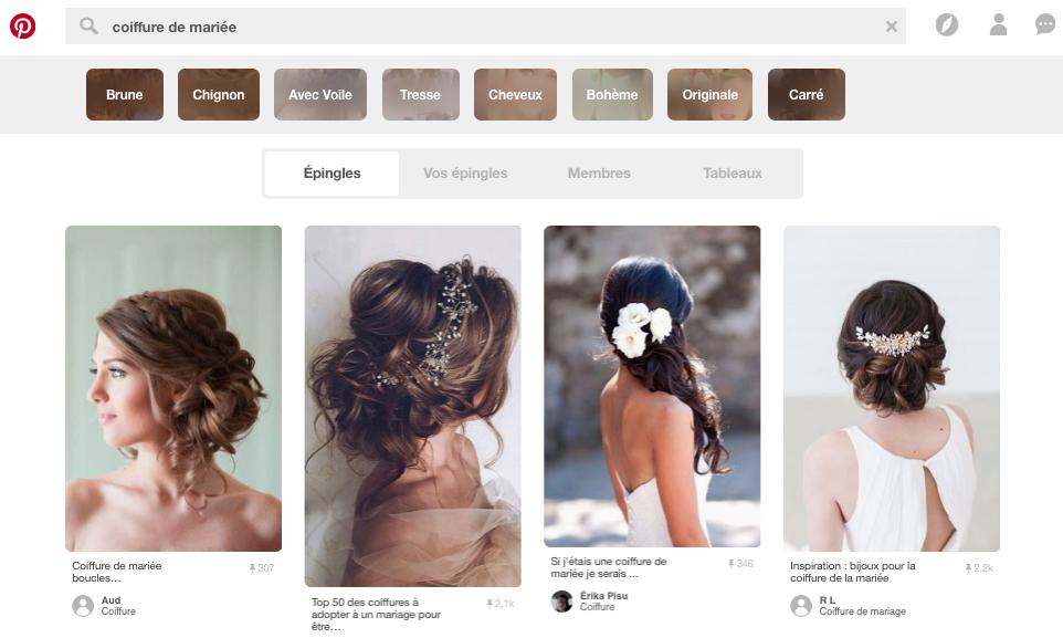 Pinterest board réseaux sociaux catalogue web navigateur