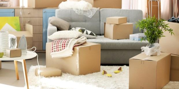Maison en cours de déménagement