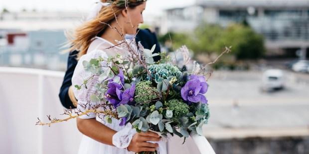 photo mariée bohème bouquet mariage