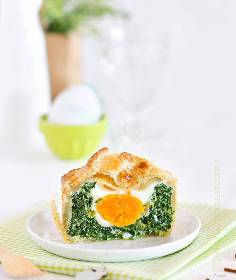 Tourte aux épinards & œuf – Torta Pasqualina pour Pâques