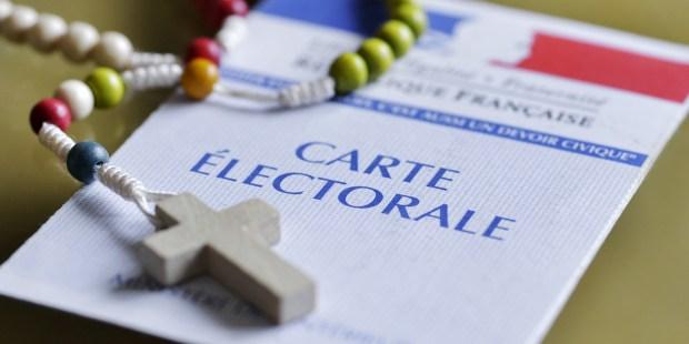 Chapelet sur carte électorale