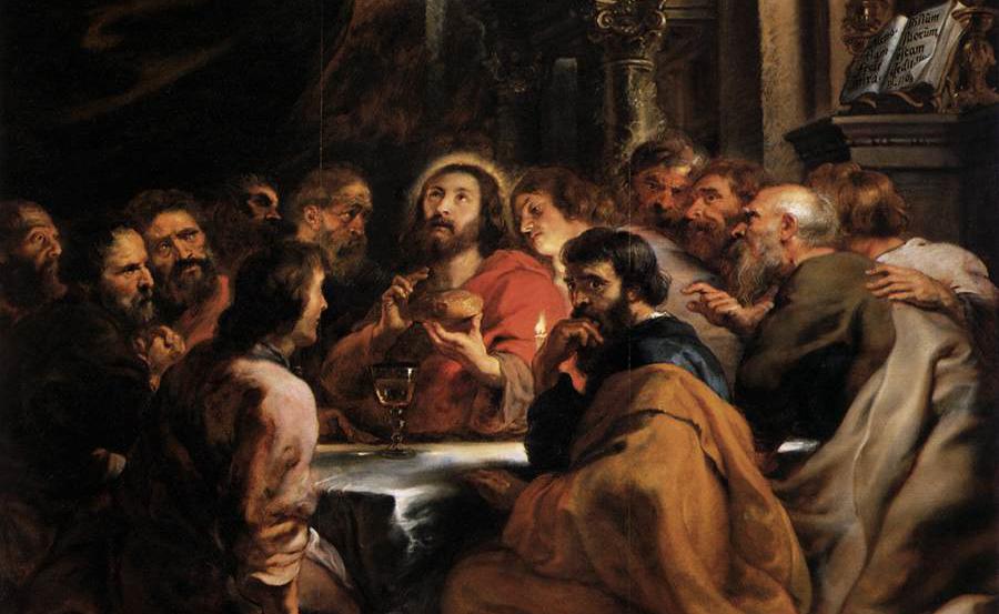 La Cène, par Pierre-Paul Rubens, 1632, huile sur toile, Pinacothèque de Brera à Milan © Wikimedia