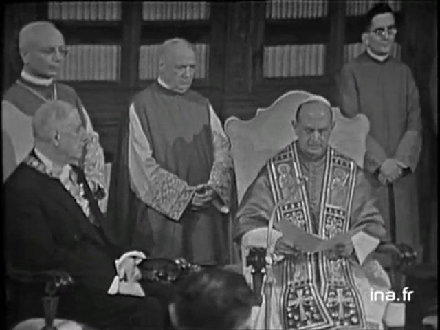 Charles de Gaulle rencontre Jean XXIII, le 31 mai 1967. © Dailymotion/ INA