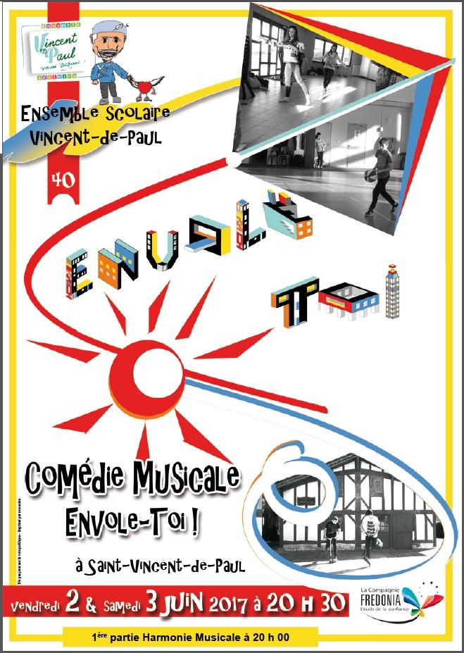"""AFFICHE DE LA COMÉDIE MUSICALE """"ENVOLE-TOI"""""""