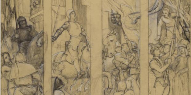 Dessins préparatoires / Jeanne d'Arc / Musée des Beaux arts d'Orléans