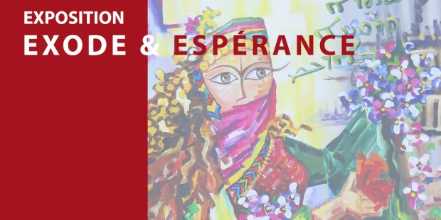 AFFICHE DE L'EXPOSITION EXODE ET ESPÉRANCE.