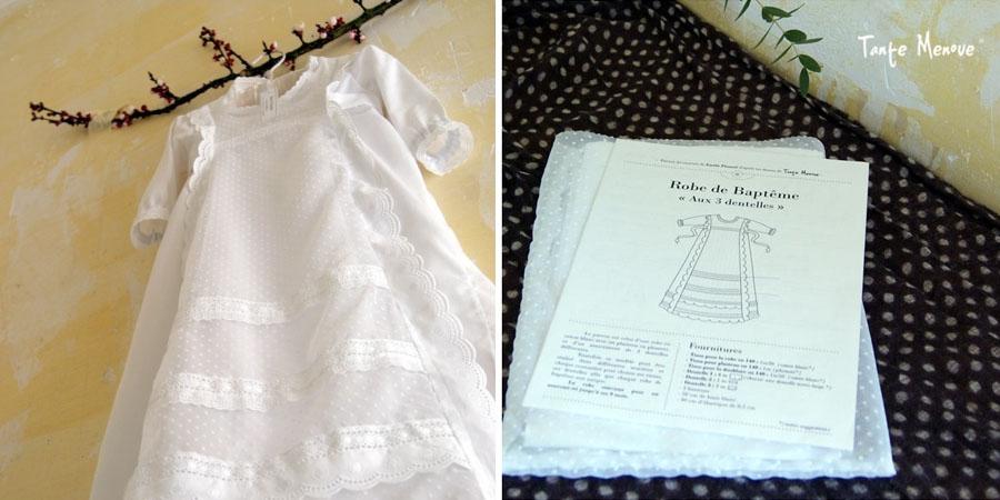 Robe de baptême traditionnelle à coudre