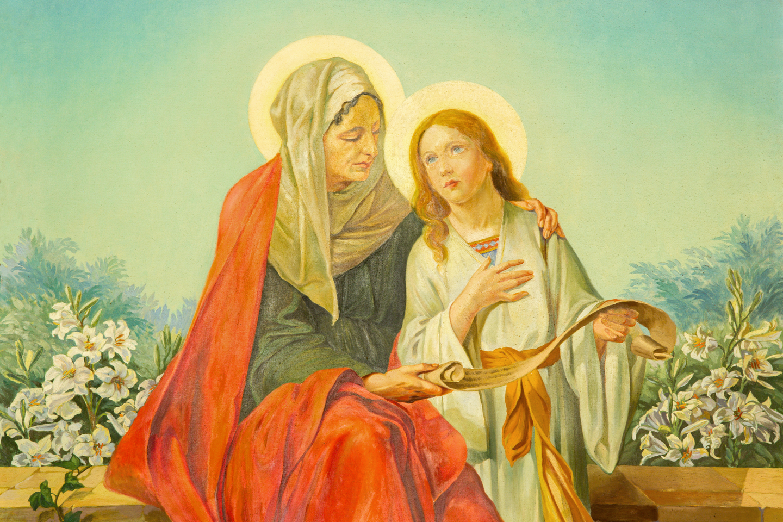 SAINTE ANNE ET LA VIERGE MARIE