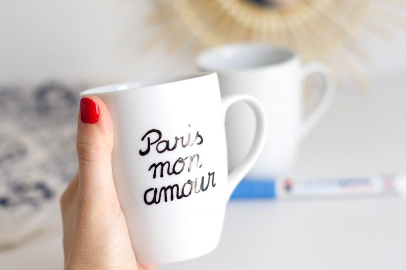 Tasse DIY Paris mon amour