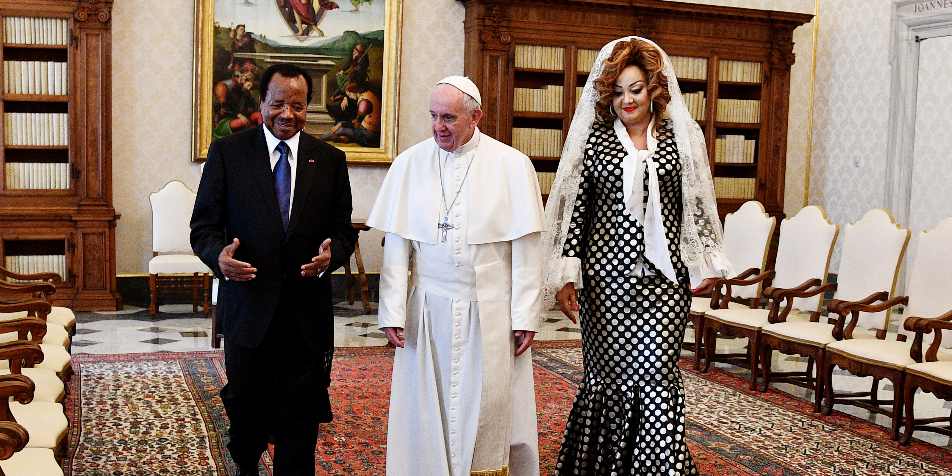 CAMEROON PRESIDENT POPE