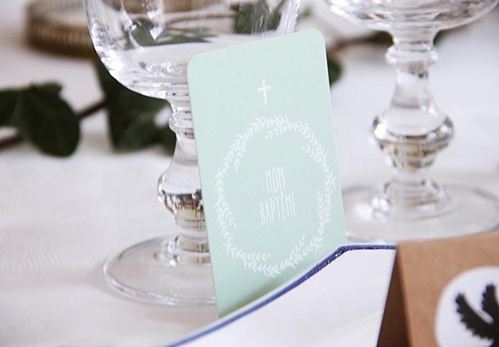 Carte Mon Baptême de Catho Rétro