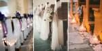 BANCS D'ÉGLISE DÉCORÉS POUR UN MARIAGE