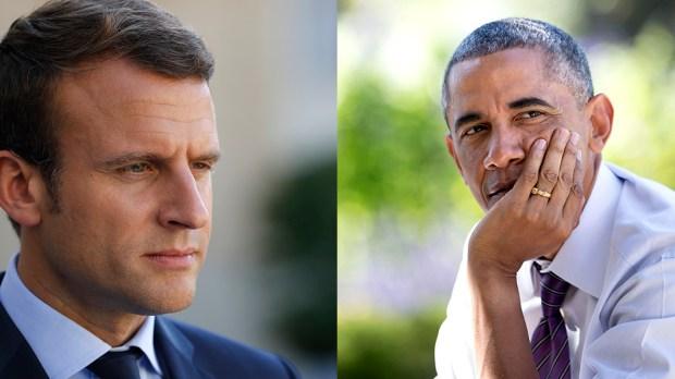 Macron Obama