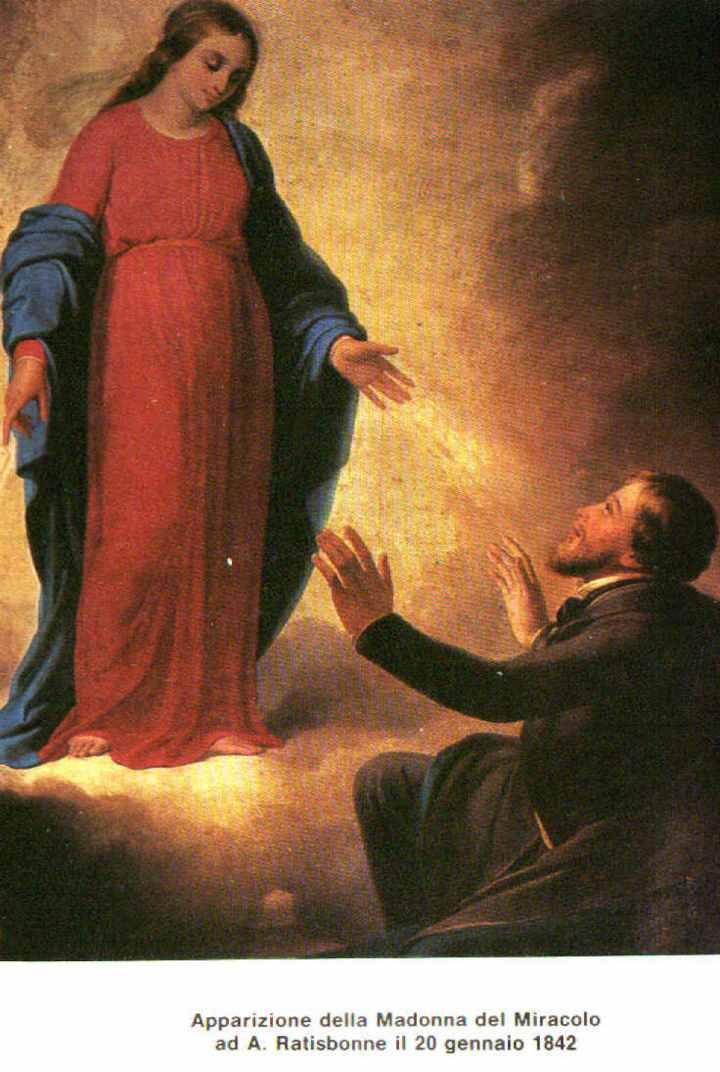L'apparition de la Sainte Vierge à Alphonse Ratisbonne le 20 janvier 1842.