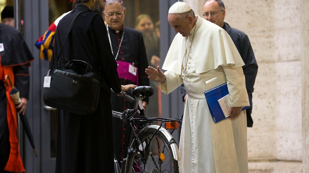 POPE FRANCIS,BICYCLE