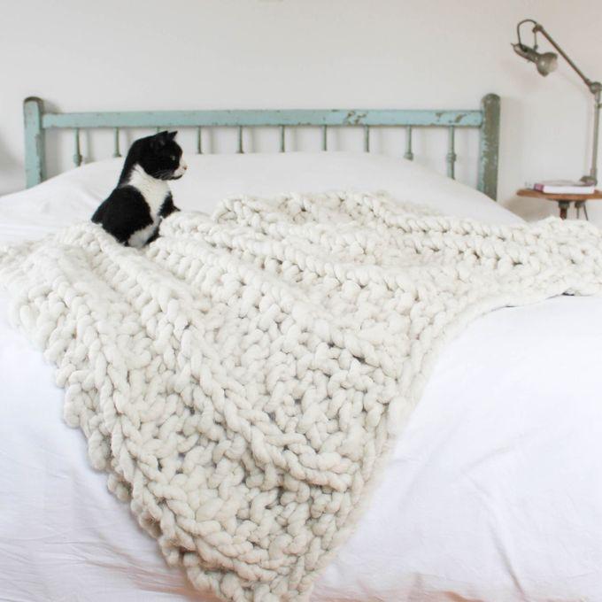 Tricoter un gros plaid