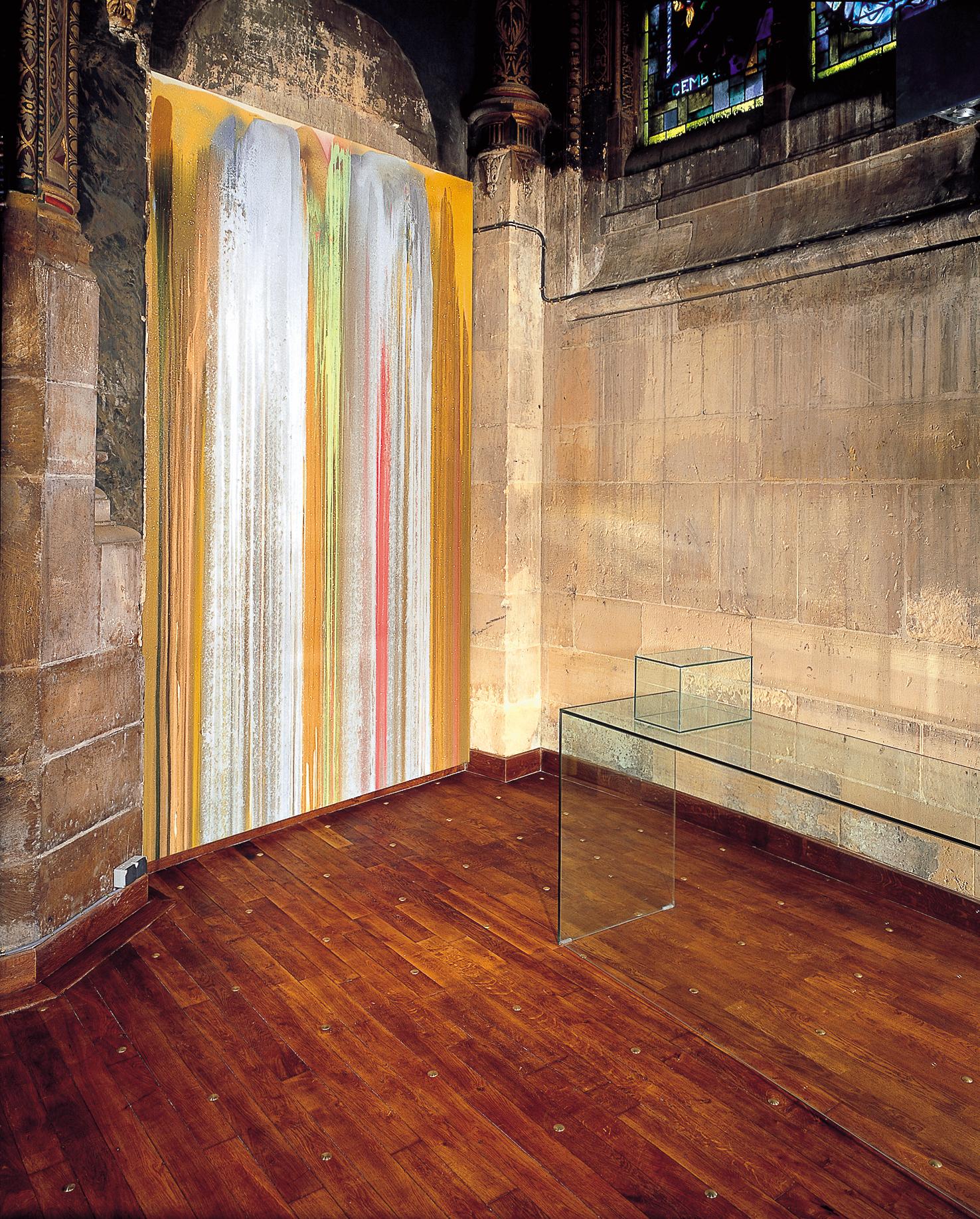 Saint-Eustache  (1er)  :  John  Armleder, La  Chapelle  du  Souvenir,  Installation.
