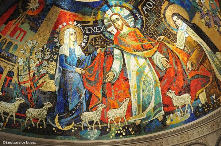 Mosaïque du choeur de la basilique de Lisieux