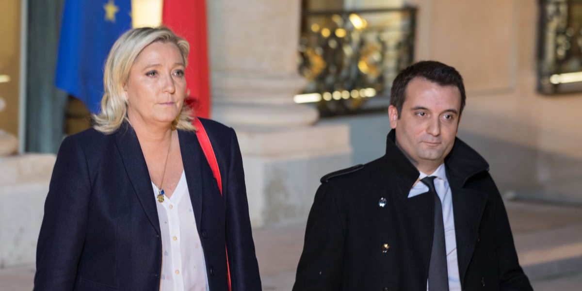 Marine Le Pen and Florian Philippot