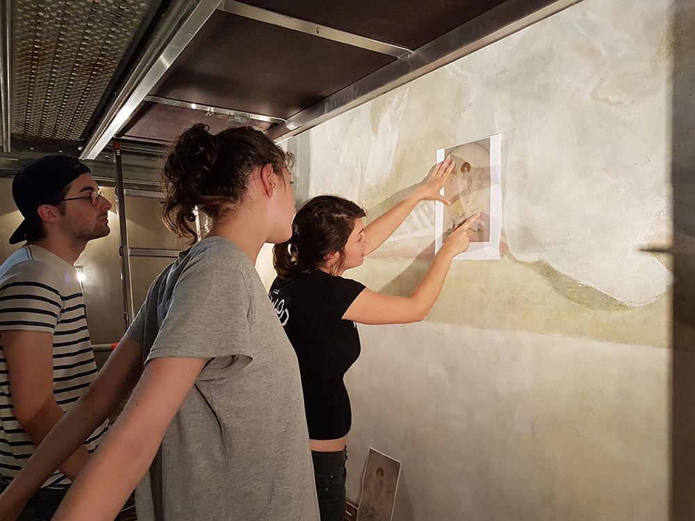 Une fresque à rénover dans la cathédrale de Dijon