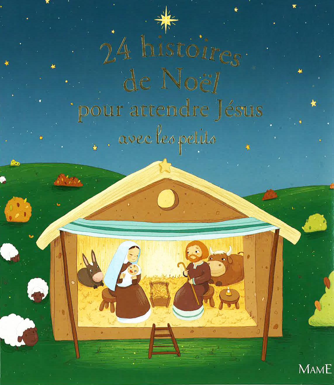couverture de livre 24 histoires pour attendre Jésus avec les petits