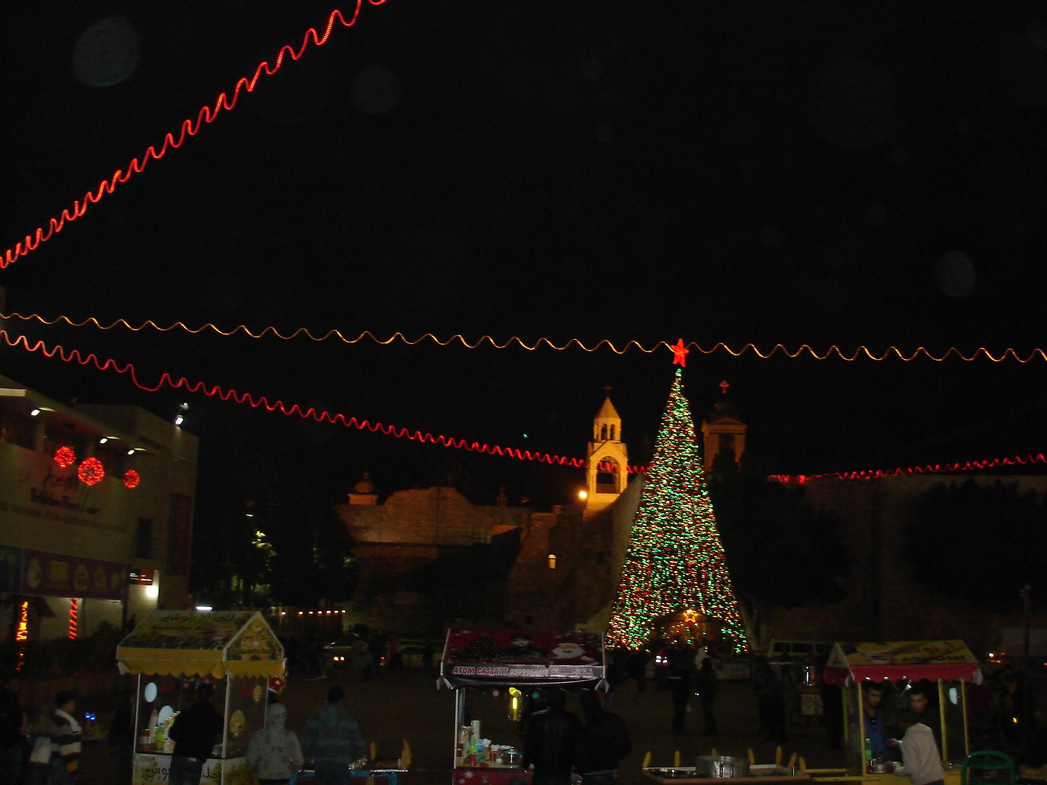 Noël à Bethléem place de la Mangeoire